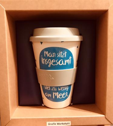 Bambus Tee- und Kaffebecher für Herrchen :)