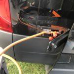 Gas Außenanschluss mit Schlauch